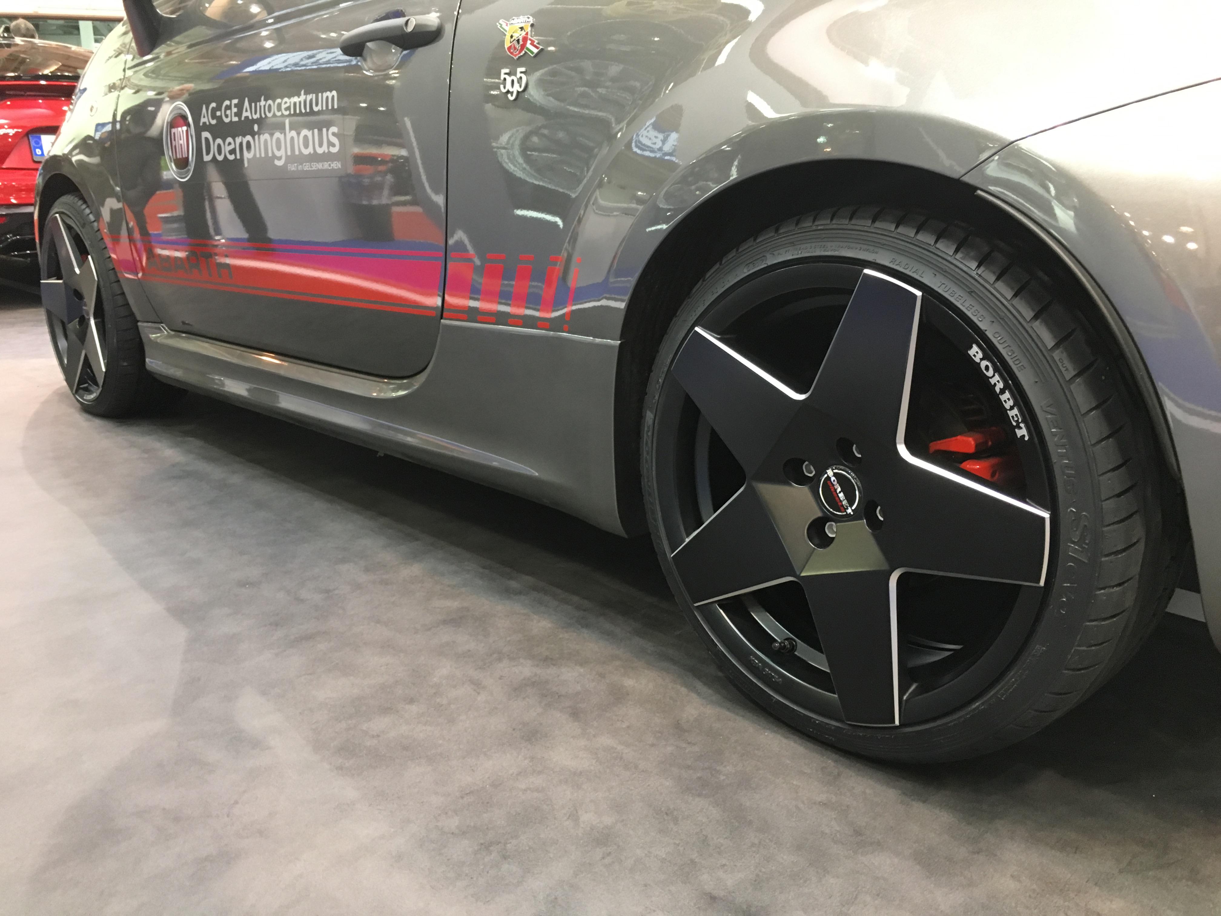 Das neue Borbet A-Rad am Fiat 595 Abarth Competizione.