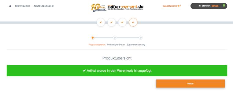 Reifen-vor-Ort Warenkorbfunktion Screen1.png