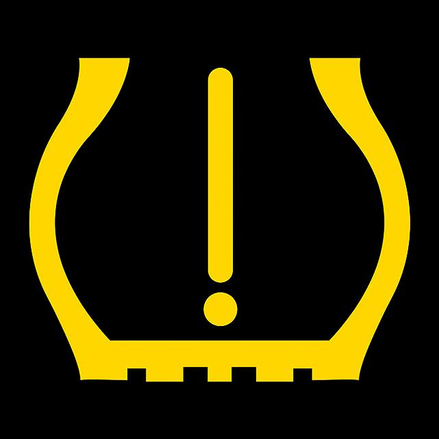 Bei indirekten RDKS-Systemen leuchtet bei zu geringem Reifenluftdruck eine Warnleuchte im Cockpit auf.