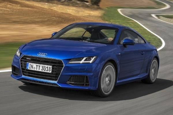 Testfahrzeug Audi TT für den Reifentest Sportreifen bei Auto Bild