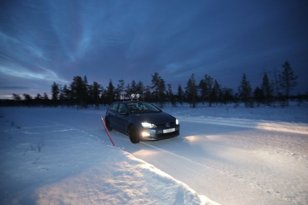 ADAC Winterreifentest 2018 für Kompaktwagen in Finnland