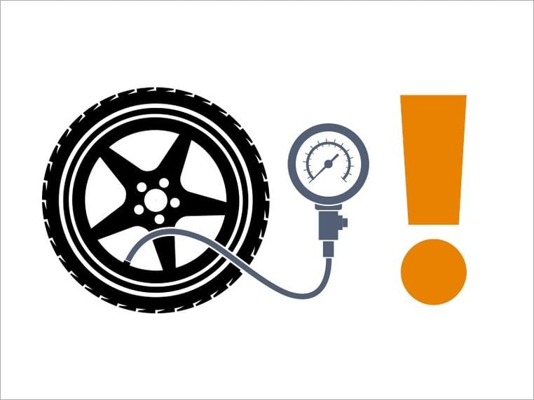 Luftdruckmessung beim Reifen